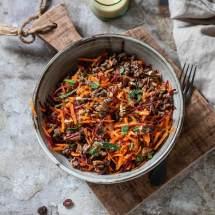 wortel gehaktsalade