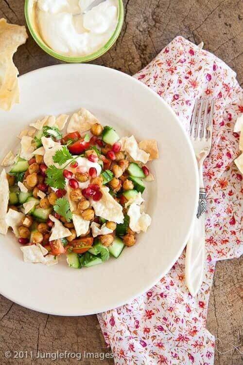 Chana chat indische salade