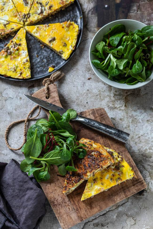 Wortel-gehakt omelet