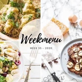 Weekmenu voor week 33