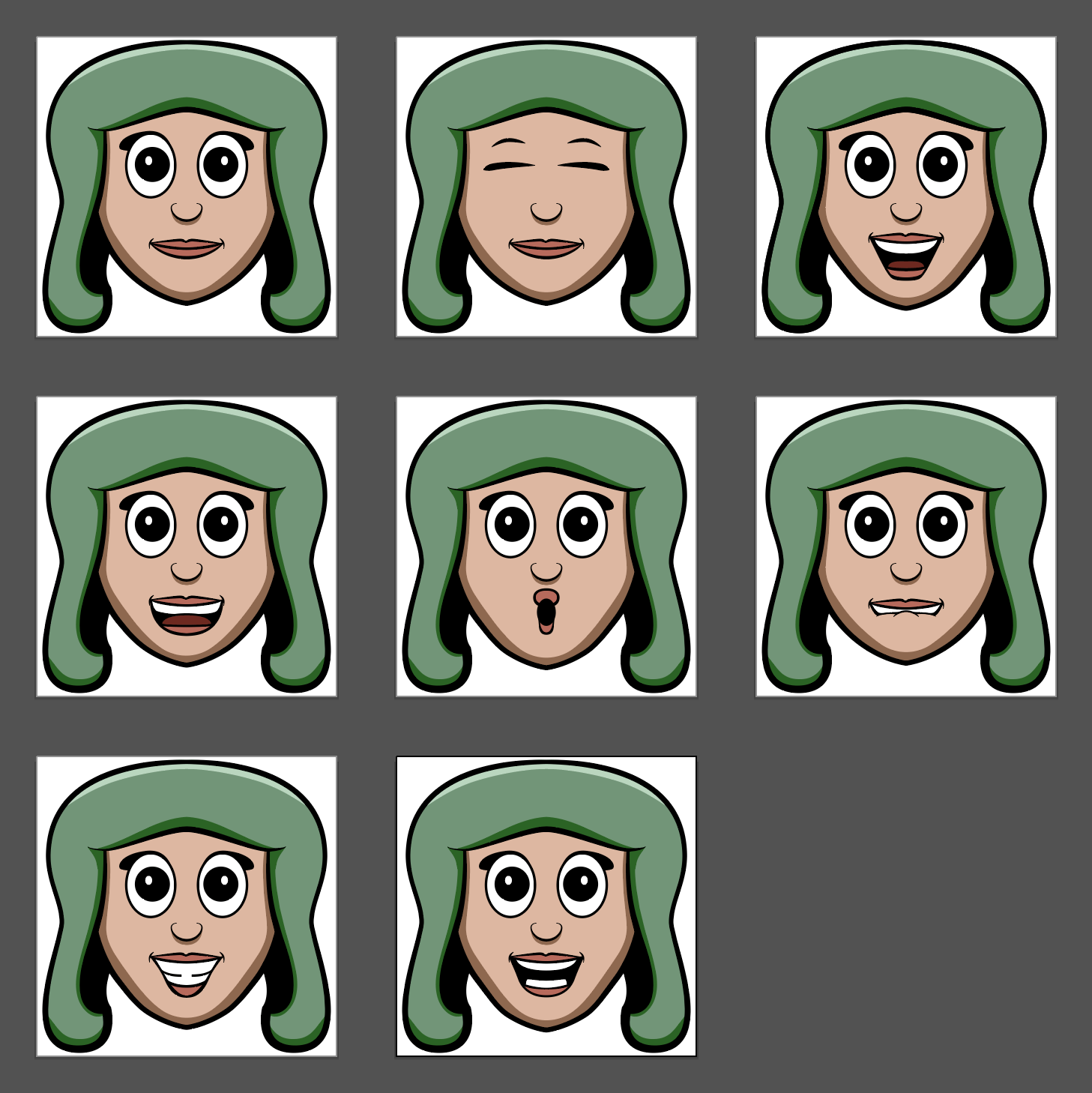 Talking Head Animation Frames