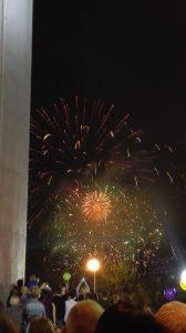 """Ich hoffe auf viele weitere schöne Momente für mein Jahr in Russland, wie dieses Feuerwerk am Ende des """"Tages der Stadt""""."""