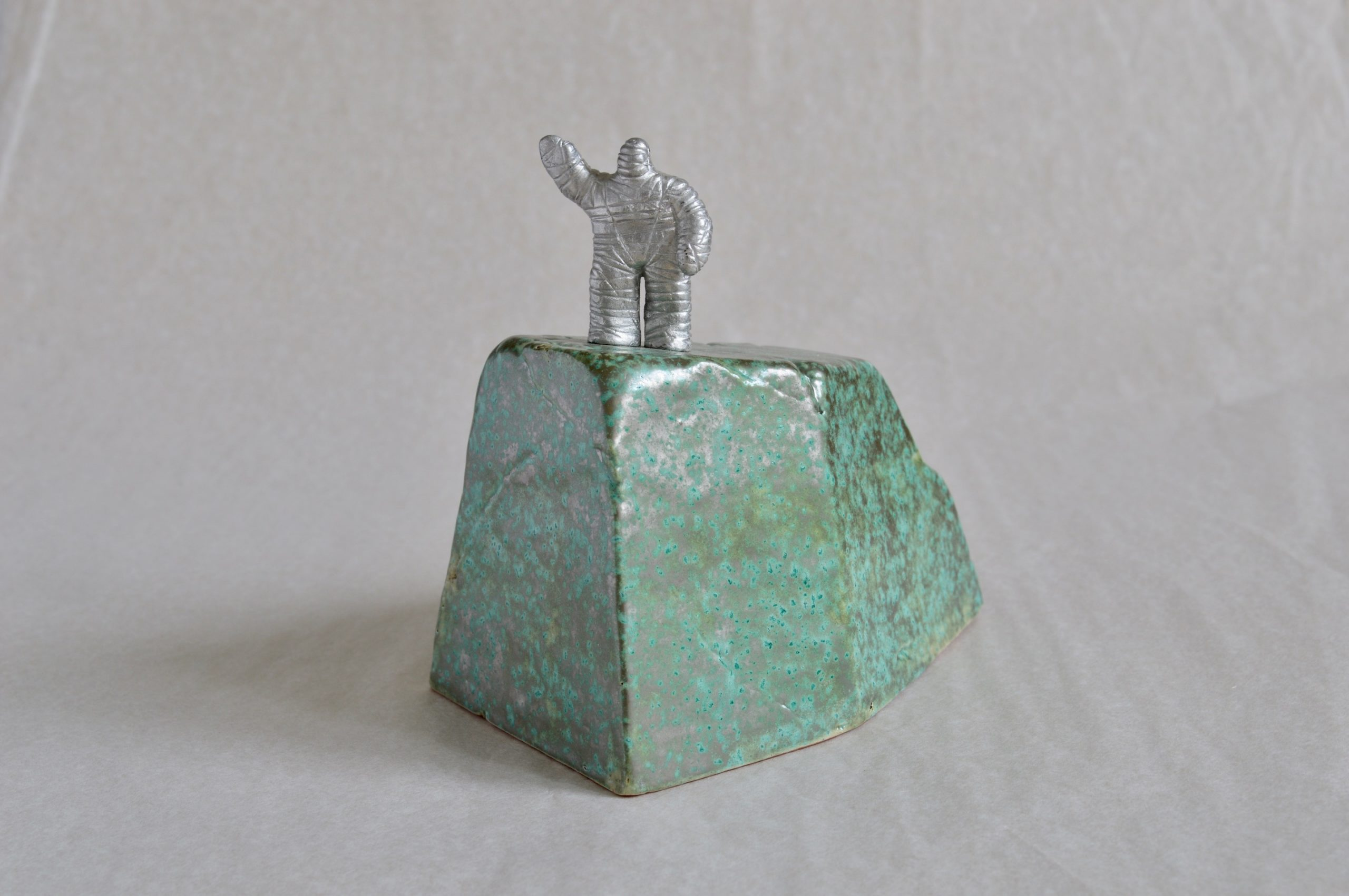 New Wave, limited edition of five, verdigris version, Max height 12.3cm overall (inc. base).