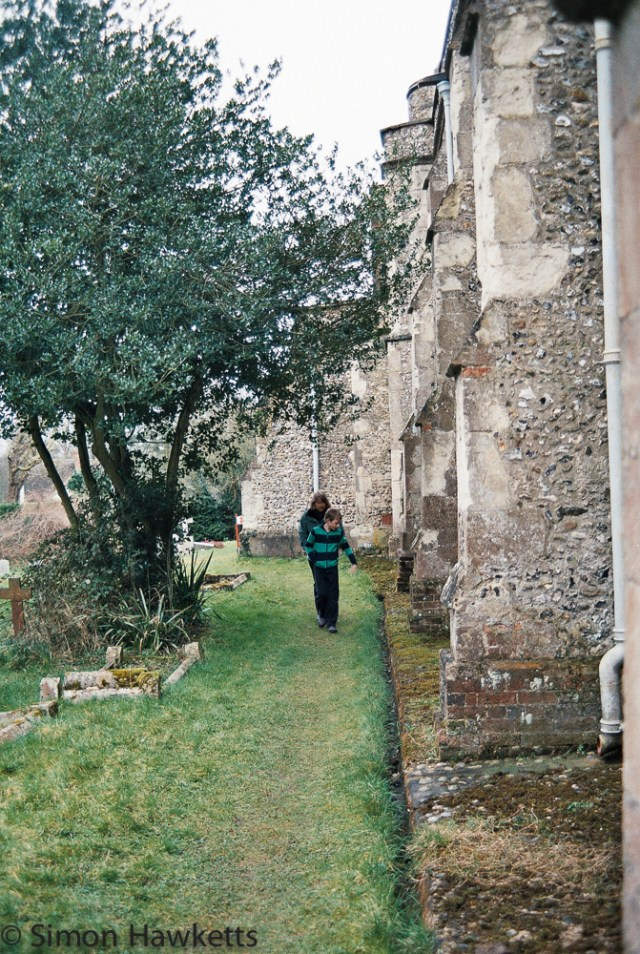 Yashica 230 AF sample picture - Walking by Cottered church