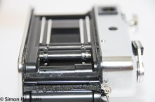 Yashica MG-1 showing light seals which probably need replacing