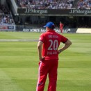 Lords cricket ground - Tim waits on the boundary