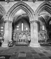 Some black & white pictures taken in Hexham Abbey - Three arches