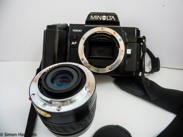 Minolta 7000 autofocus 35mm slr with lens removed