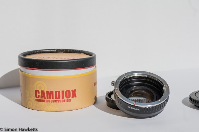 Camdiox Sony Nex focal reducer with box