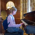 Sutton Hoo - Emma tinkling on the piano