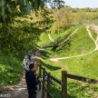 Pictures of Framlingham in Suffolk - The walk around the moat at Framlingham Castle