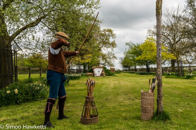 Kentwell Hall Tudor day pictures - Archery practice
