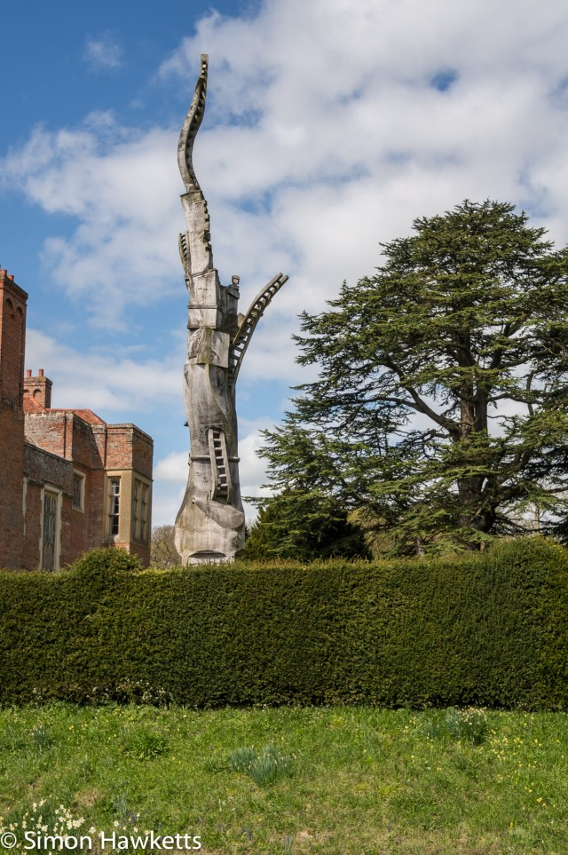 Kentwell Hall Tudor day pictures - Carved tree