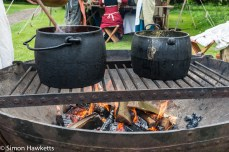 Kentwell Hall Tudor day pictures - Cooking over the fire