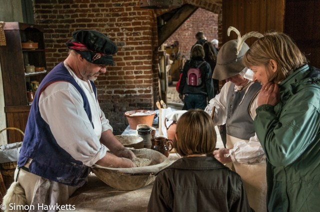 Kentwell Hall Tudor day pictures - The baker