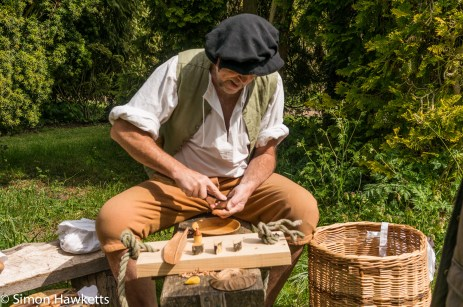 Kentwell Hall Tudor day pictures - The carver