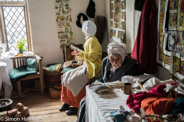 Kentwell Hall Tudor day pictures - The sewing room