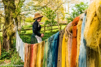 Kentwell Hall Tudor day pictures - The wool dyer