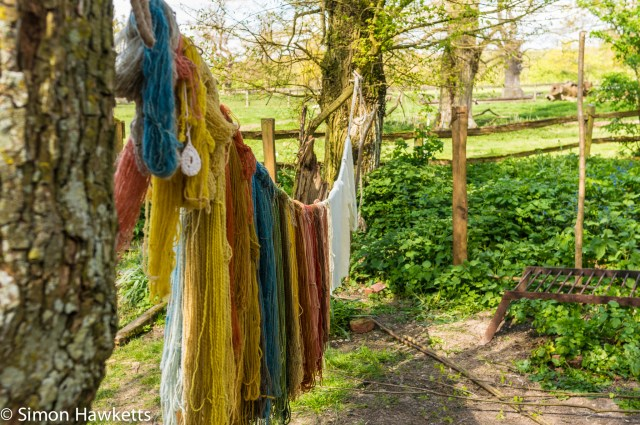 Kentwell Hall Tudor day pictures - Wool drying