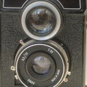 Lubitel 166B TLR - view of lens unit