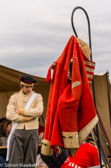 National Trust property Ickworth House pictures - Soldier in tunic in battle re-inactment