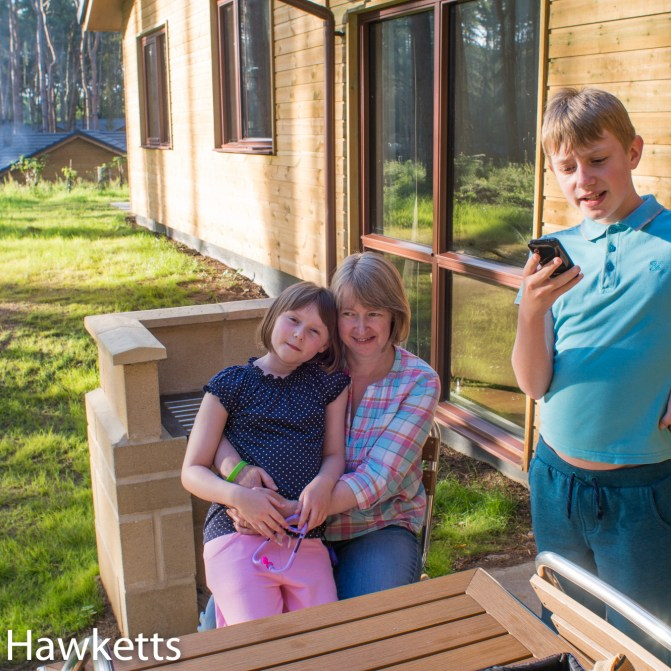 Pictures from Woburn Forest CenterParcs - The family in the lodge garden
