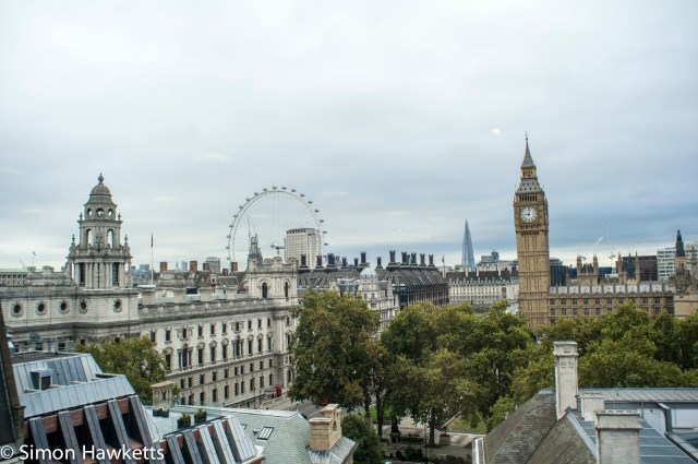 London eye and big ben from the QEII conference centre