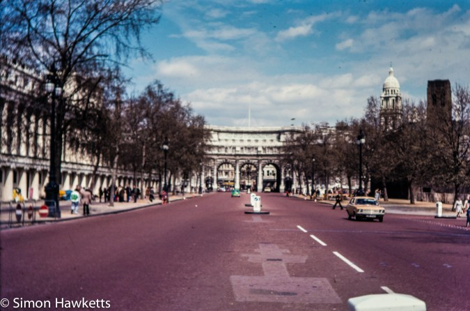Olympus OM-20 pictures - Admiralty arch on colour negative film taken about 1980