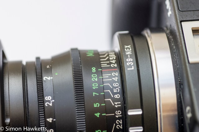 Jupiter 8 50mm f/2.0 fitted on the Sony Nex 6