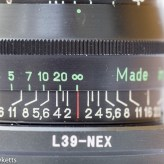 Jupiter 8 50mm f/2.0 focus scale