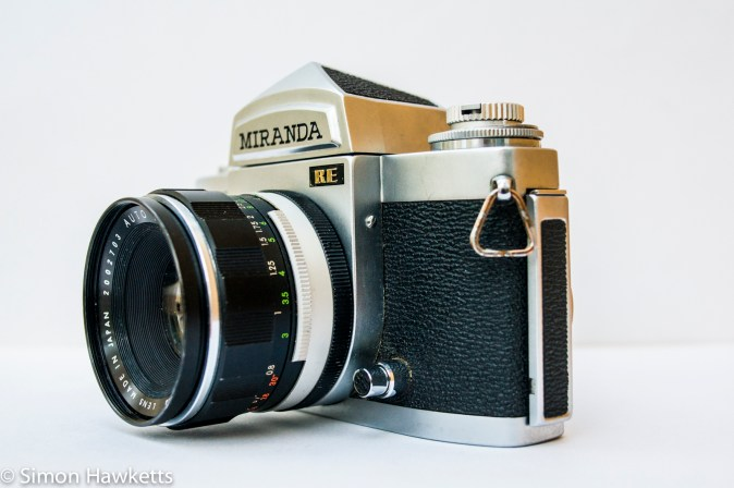 Miranda Sensomat RE 35mm slr camera showing depth of field preview / metering button