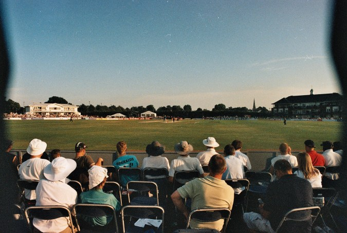 Photos from film found in old cameras - a cricket match
