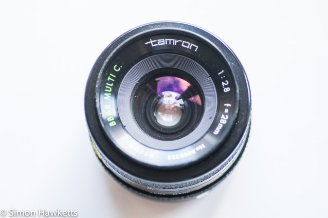 Tamron BBar 28mm f/2.8 front view