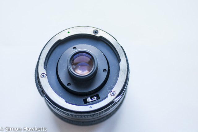 Tamron BBar 28mm f/2.8 showing adaptall lens mount