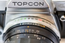 Topcon IC-1 - Shutter speed and aperture