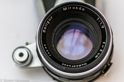 Miranda Dr 35mm SLR showing front view of lens