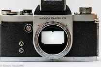 Miranda Dr 35mm SLR showing front view without lens