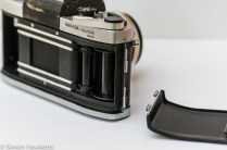 Miranda Dr 35mm SLR showing the removable back
