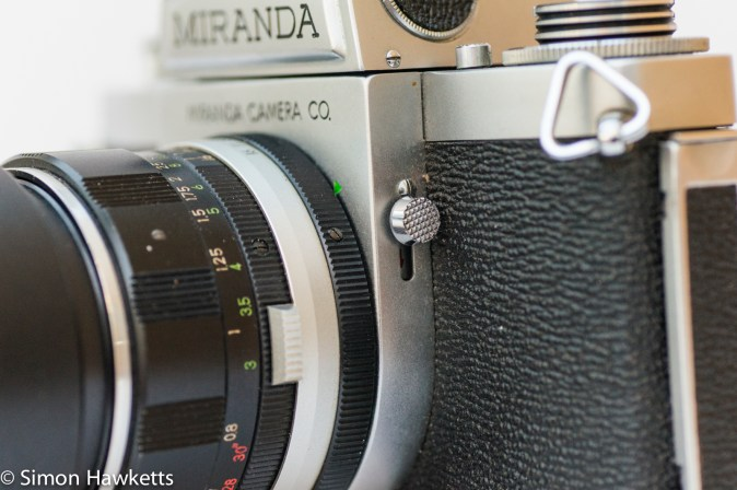 Miranda Fm 35mm slr camera showing depth of field preview