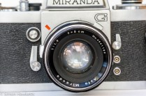 Miranda G 35mm slr camera showing lens front view