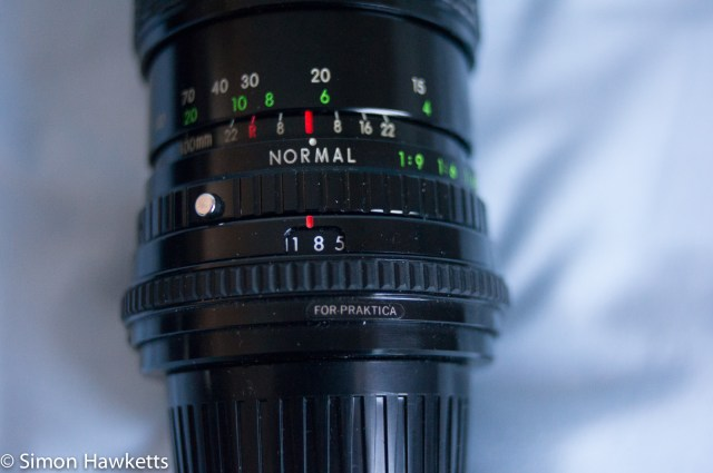 Sigma 100-200 zoom K aperture and focus scales