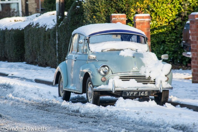Sigma 100-200 zoom K sample raw - Morris minor