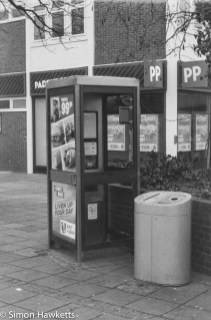 Caffenol sample picture - Phone booth