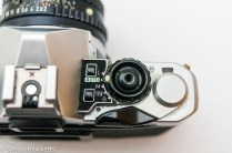 Pentax ME Super - mode dial, shutter release and film advance