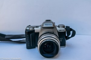 Pentax MZ-50 auto focus 35mm slr front view