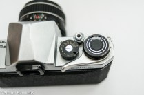 Pentax S1a 35mm showing shutter speed, film advance and shutter release