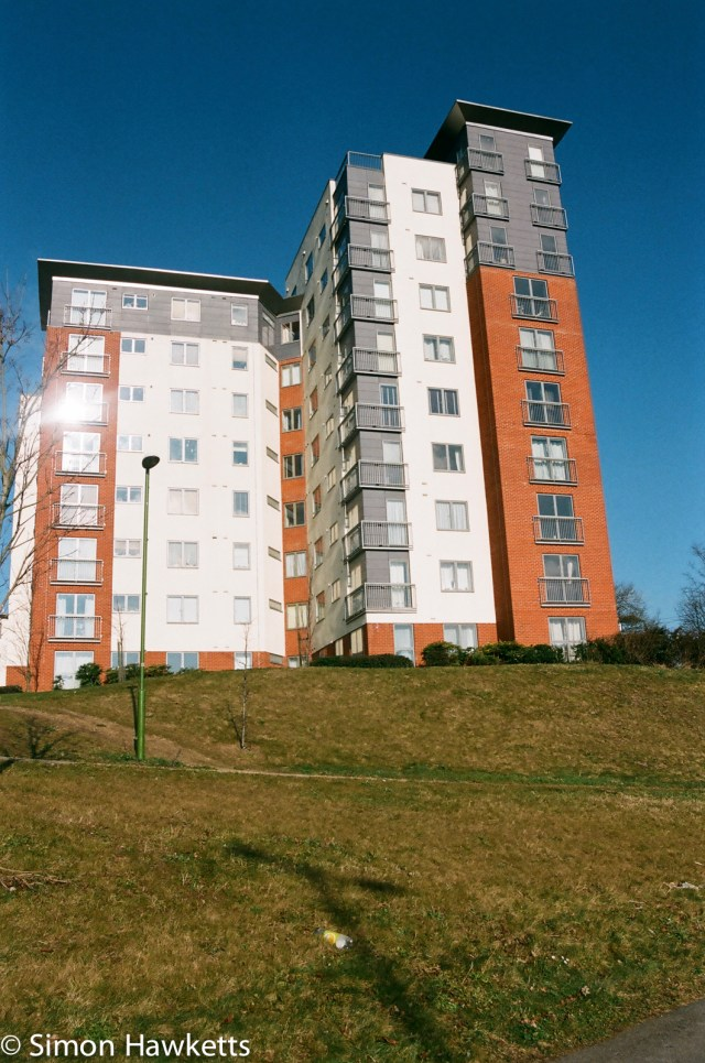 Nikon F80 sample photographs - The block of flats.