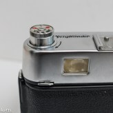 Voigtlander Vito automatic 35mm viewfinder camera showing rewind knob popped up