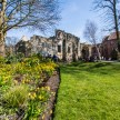 In York museum gardens looking towards the city wall