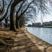A path on the riverside next to the Ouse in York
